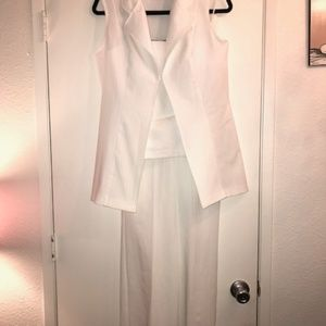 Pants - ALL White pinstripe 3pc summer suit
